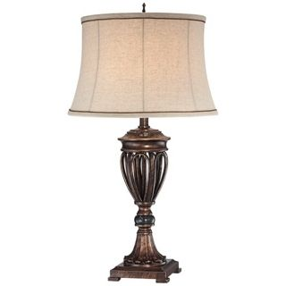 Traditional Bronze Open Urn Base Table Lamp   #T8586