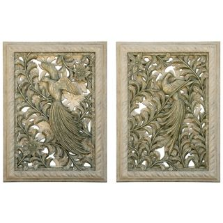 Kepuhi Bird Set of 2 Wall Art Panels   #M0500