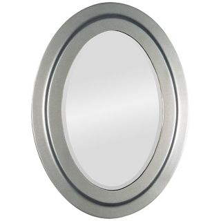 "Painted Nickel Oval 30"" High Wall Mirror   #M3535"
