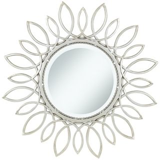 "Silver Daisy 30"" Wide Wall Mirror   #U5077"