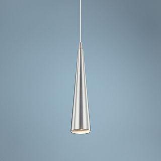 "Sliver 12"" High Satin Nickel Mini Pendant Light   #U3410"