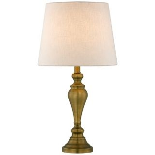 "24""H Brass Finish Candlestick  Table Lamp   #T3833"