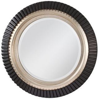 "Murray Feiss Geary 32"" Wide Framed Round Wall Mirror   #X2643"