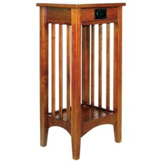 Hugo Red Oak Wood Plant Stand   #H2335