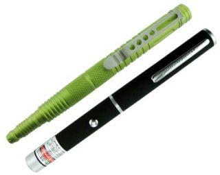 GREEN Laser Pointer Pen HIGH POWER w/ 6 Aluminum TACTICAL PEN   JTEC