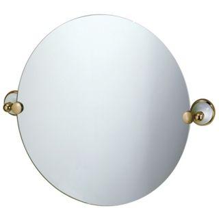 "Gatco Franciscan Brass Round Tilt 19 1/2"" High Wall Mirror   #P6541"