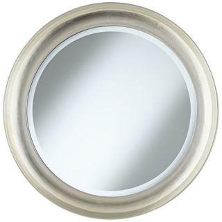 "Antwerp Concave Frame 29 1/2"" Round Silver Wall Mirror   #W4276"