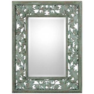"""Uttermost Soana 24 3/4"""" Wide Mossy Green Wall Mirror   #W2577"""