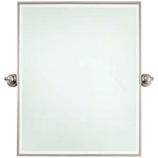 """Minka 30"""" High XL Brushed Nickel Bathroom Wall Mirror   #V2154"""