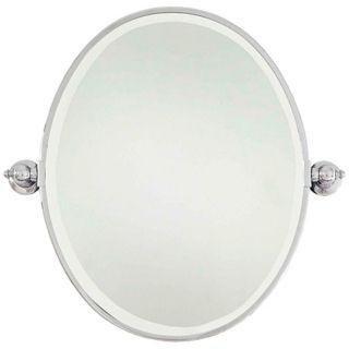 """Minka 24 1/2"""" High Oval Chrome Bathroom Wall Mirror   #V2160"""
