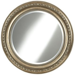 "Harrison 31 1/2"" Wide Champagne Gold Wall Mirror   #W4075"