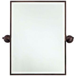 "Minka 24"" High Rectangle Brushed Bronze Bathroom Wall Mirror   #U8976"
