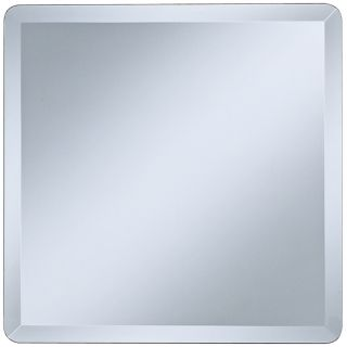 "Square Frameless 18"" Wide Beveled Wall Mirror   #P1411"