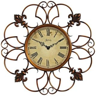 "Province 24"" Round Open Wire Framed Wall Clock   #W1003"