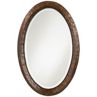 "Capiz Shell Frame Vanity 34"" High Wall Mirror   #N3491"