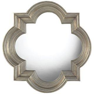 """Osbourne Midland Silver 30"""" High Wall Mirror   #X7138"""