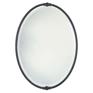 Murray Feiss Boulevard Collection Oval Wall Mirror   #15006