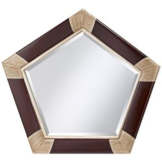 "Murray Feiss Penelope 41 3/4"" Wide Pentagon Wall Mirror   #X5737"