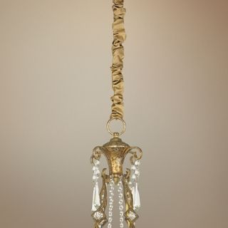 "Gold Silk 46 1/2"" Long Chandelier Chain Cover   #20242"