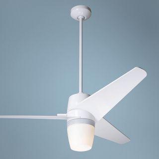 "50"" Modern Fan Velo Gloss White Ceiling Fan with Light Kit   #J4029"