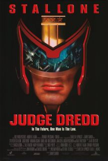 Judge Dredd Movie Poster 27x40 B Sylvester Stallone Armand Assante