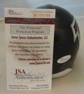 Julio Jones Autographed Signed Atlanta Falcons Mini Black Helmet w JSA