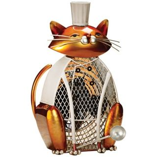 Cat Saute Figurine Decorative Desk Fan   #T1345