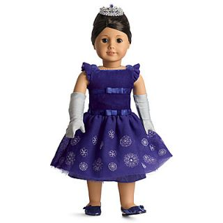 NEW NIB American Girl Doll Snowflake Ball Dress Gown Christmas Blue