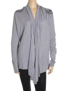 Romeo Juliet Couture Women Stylish Gray Sweater Sz M