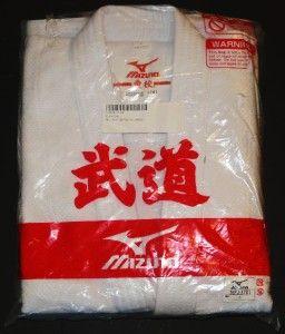 Mizuno Judo Martial Arts Karate Gi Size 2 White New Top Belt Pants