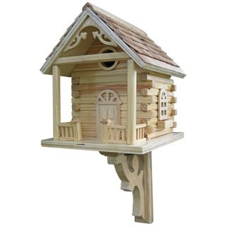 Log Cabin Bird House   #H9628