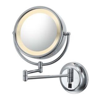 Aptations Chrome Hardwired Swing Arm Lighted Vanity Mirror   #J5305