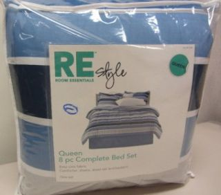 QUEEN Bed in a Bag Complete Bed Set Comforter, Shams, Sheet Set & Bed