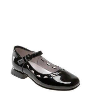 New Jumping Jacks Nel Black Patent Leather Mary Janes Buckle Shoes