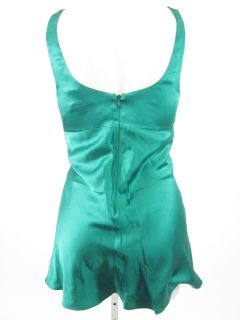 Julie Brown Green Silk Sleeveless Sequin Shirt Sz S