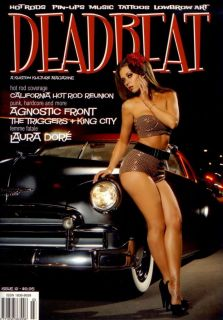 DEADBEAT MAGAZINE #12 CAR HOT ROD RAT PINUP CULTURE DELUXE SABINA