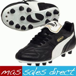 Match FG Sports Junior Boys Football Black Firm Ground Boots