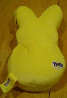 Just Born Peeps Soft Yellow Bunny Peep 8 Plush Stuffed Animal Toy New