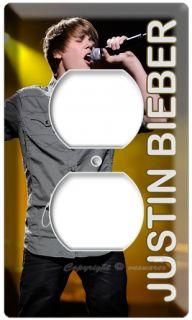 Justin Bieber Singing Live Concert Poster DVD Electrical Outlet Cover