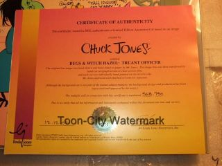Bugs Bunny Witch Hazel Signed Chuck Jones June Foray