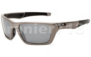 New Oakley Jury Polarized Sunglasses Distressed Silver Black Iridium