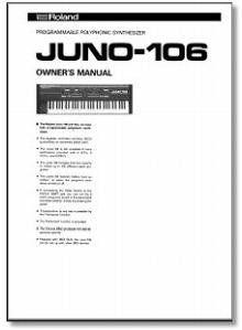 Roland Juno 106 Owners Manual Juno 106 Owner Manual