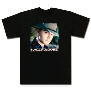 Justin Moore Country Small Town USA New Black T Shirt
