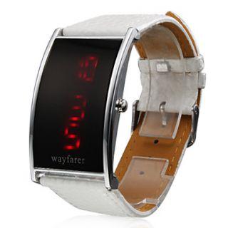 EUR € 3.76   Relógio de Mulher LED com Correia Pele Branca, Frete