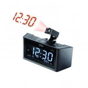 JWIN Dual Alarm Clock Radio with Projection Projector