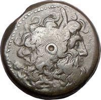 Ptolemy VI Egypt King 170BC Ancient Greek Coin Ragles Eagles Zeus RARE