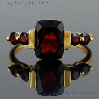 Round Garnet Amethyst 9K 9ct Solid Yellow Gold Solitaire Rings Only
