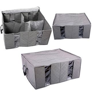 130L carvão de bambu não tecido de roupas de armazenamento bag
