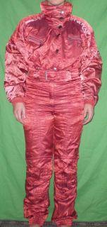 Kaelin One Piece Suit Womens 8 Pink Ski Suit DH Suit Down Hill Race