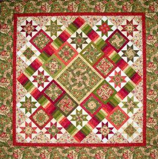 Keyboard Kaleidoscope Quilt Pattern Christmas Presence